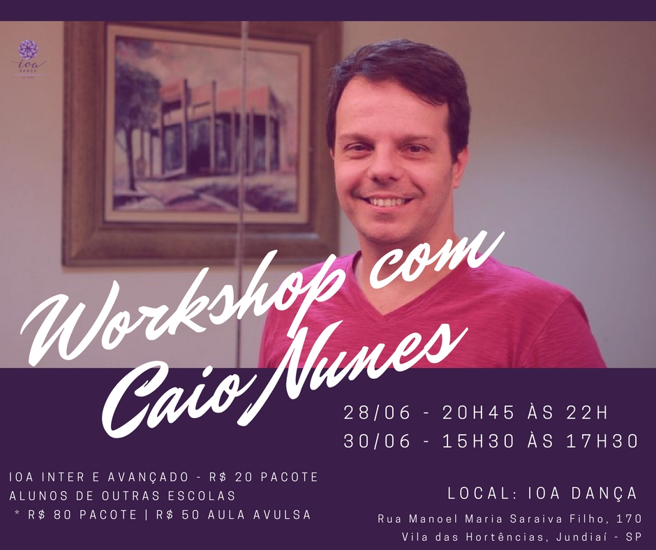 WORKSHOP COM CAIO NUNES – MODERN JAZZ
